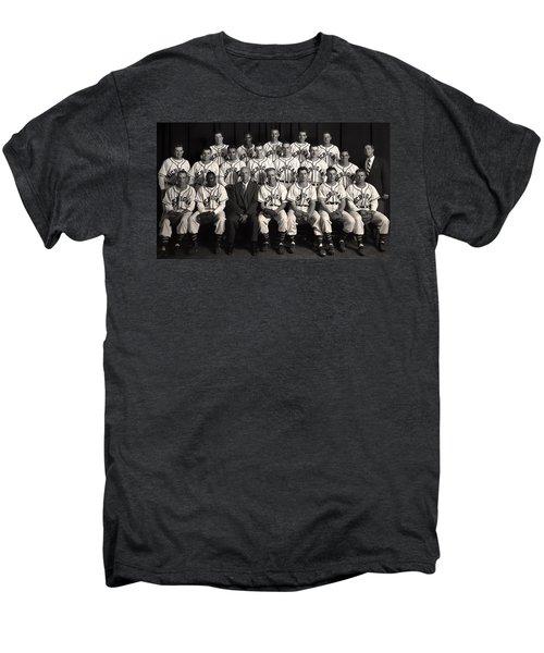 University Of Michigan - 1953 College Baseball National Champion Men's Premium T-Shirt by Mountain Dreams