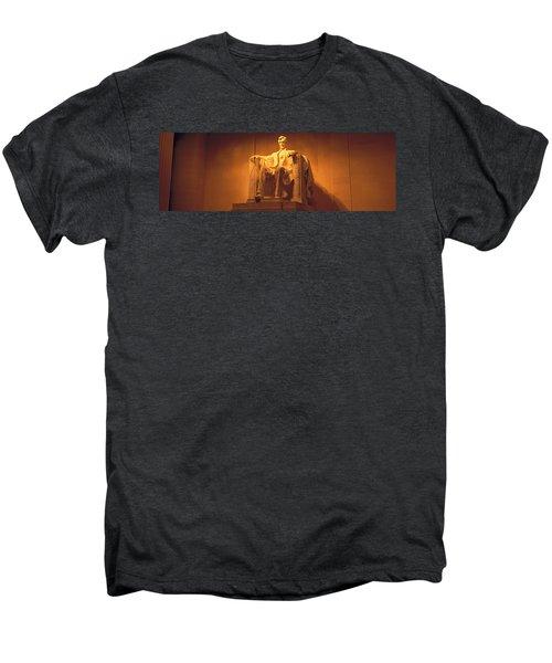 Usa, Washington Dc, Lincoln Memorial Men's Premium T-Shirt by Panoramic Images