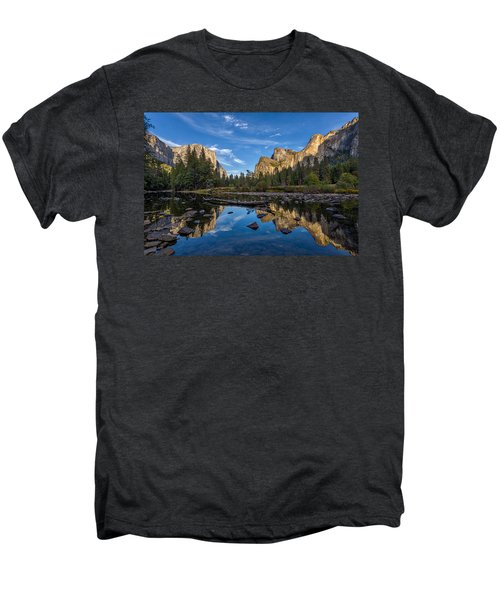 Valley View I Men's Premium T-Shirt by Peter Tellone