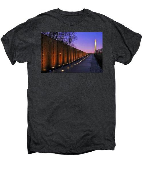 Vietnam Veterans Memorial At Sunset Men's Premium T-Shirt by Pixabay
