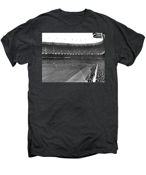 View Of Yankee Stadium Men's Premium T-Shirt by Underwood Archives