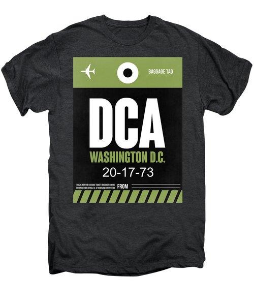 Washington D.c. Airport Poster 2 Men's Premium T-Shirt by Naxart Studio