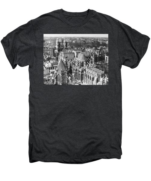 Westminster Abbey In London Men's Premium T-Shirt by Underwood Archives