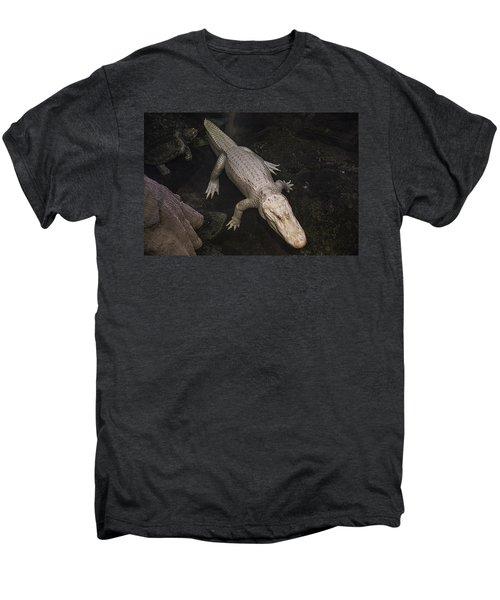 White Alligator Men's Premium T-Shirt by Garry Gay