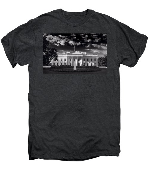 White House Sunrise B W Men's Premium T-Shirt by Steve Gadomski
