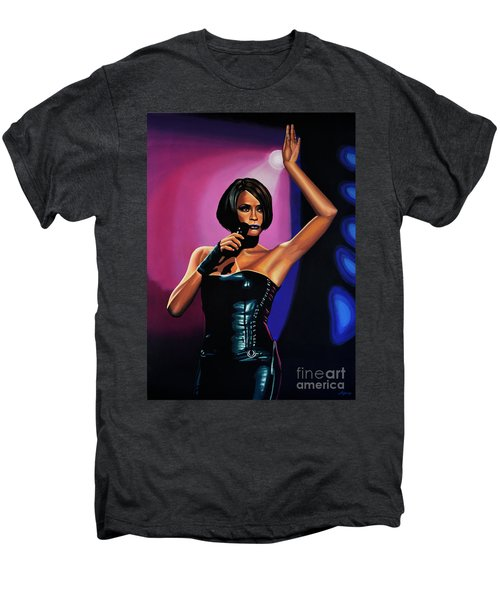 Whitney Houston On Stage Men's Premium T-Shirt by Paul Meijering