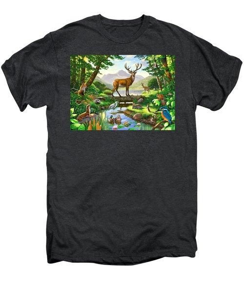 Woodland Harmony Men's Premium T-Shirt by Chris Heitt