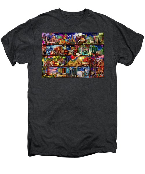World Travel Book Shelf Men's Premium T-Shirt by Aimee Stewart