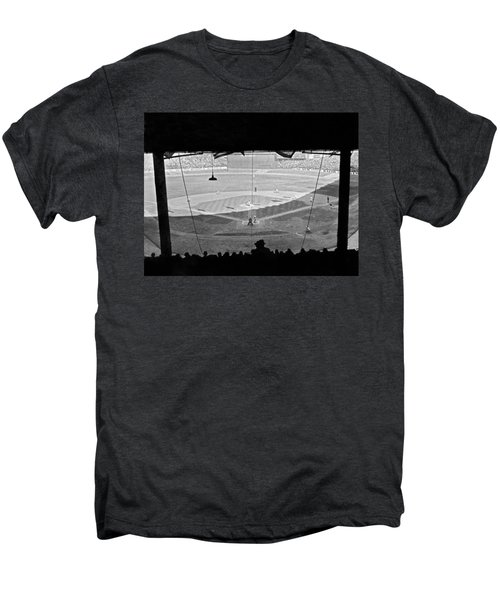Yankee Stadium Grandstand View Men's Premium T-Shirt by Underwood Archives