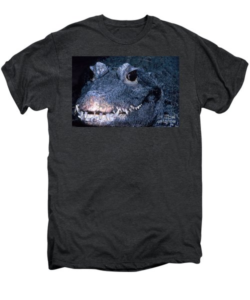 African Dwarf Crocodile Men's Premium T-Shirt by Dante Fenolio