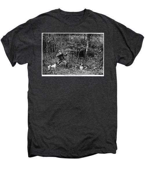 Bird Shooting, 1886 Men's Premium T-Shirt by Granger