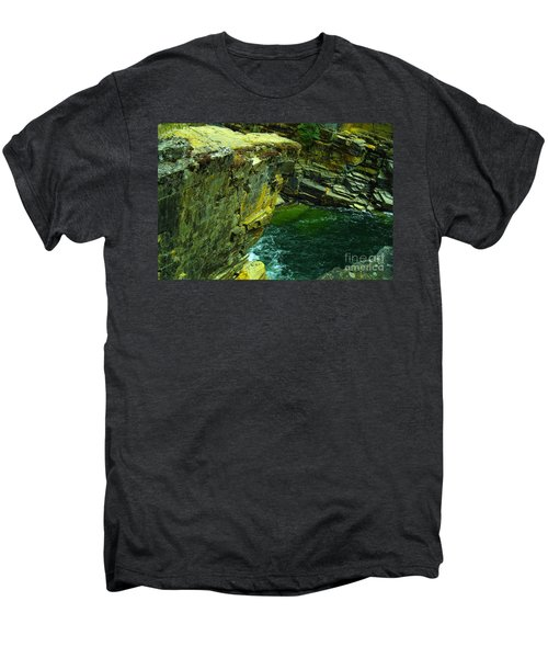 Colored Rocks  Men's Premium T-Shirt by Jeff Swan