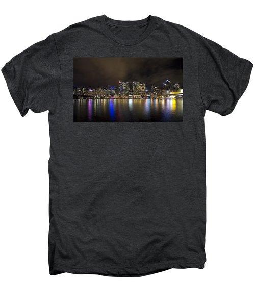 Darling Harbor Sydney Skyline Men's Premium T-Shirt by Douglas Barnard