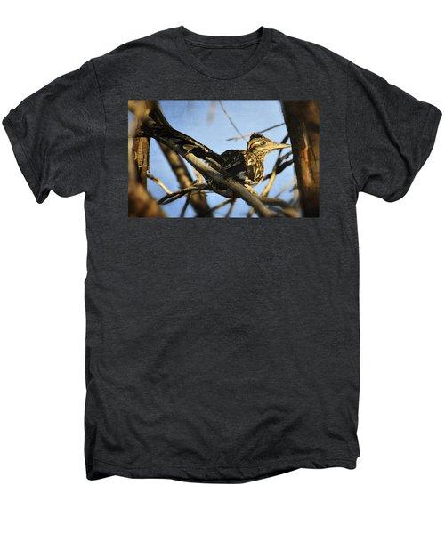 Roadrunner Up A Tree Men's Premium T-Shirt by Saija  Lehtonen