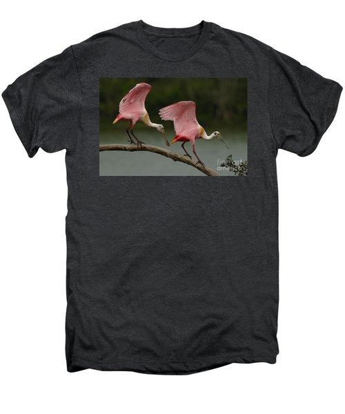 Rosiette Spoonbills Men's Premium T-Shirt by Bob Christopher
