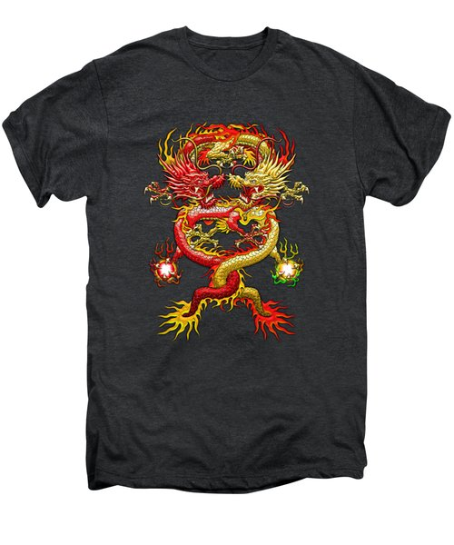 Brotherhood Of The Snake - The Red And The Yellow Dragons Men's Premium T-Shirt by Serge Averbukh