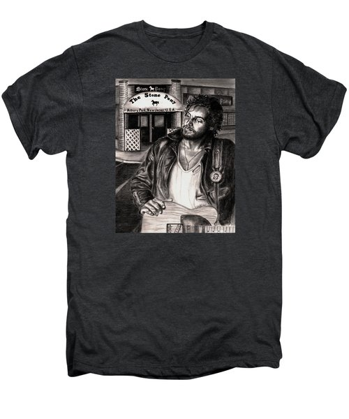 Bruce Springsteen Men's Premium T-Shirt by Kathleen Kelly Thompson