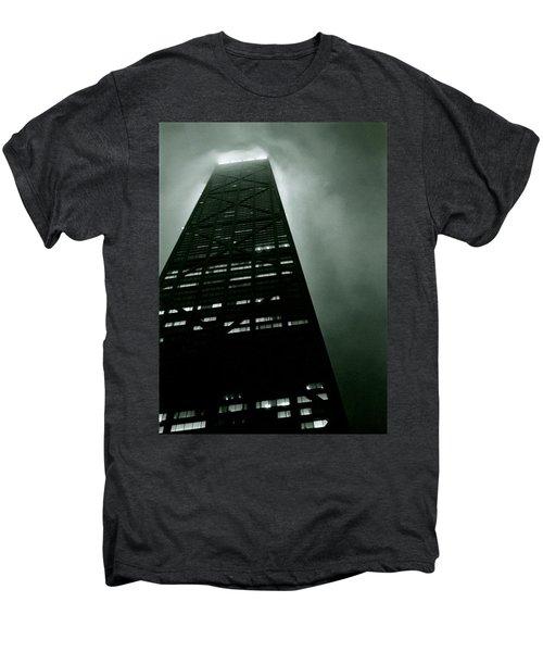 John Hancock Building - Chicago Illinois Men's Premium T-Shirt by Michelle Calkins