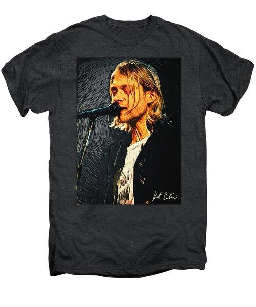 Kurt Cobain Men's Premium T-Shirt by Taylan Soyturk