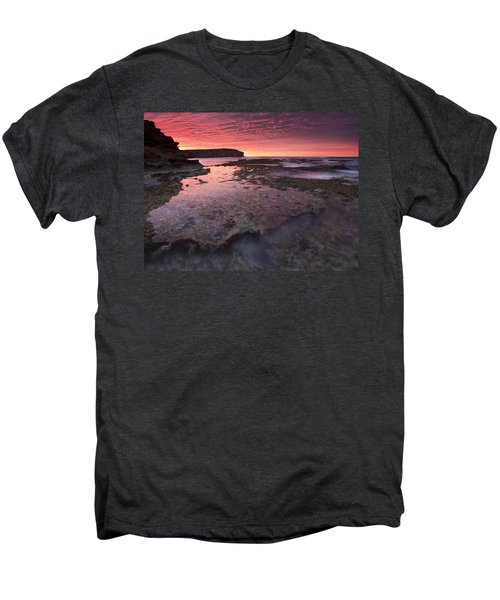 Red Sky At Morning Men's Premium T-Shirt by Mike  Dawson