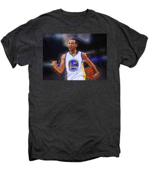 Stephen Curry Men's Premium T-Shirt by Semih Yurdabak