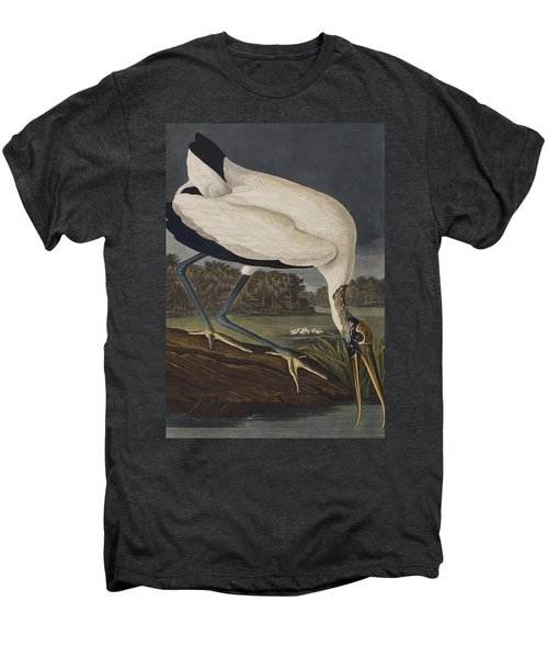 Wood Ibis Men's Premium T-Shirt by John James Audubon