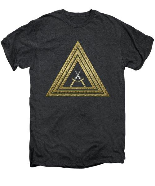 15th Degree Mason - Knight Of The East Masonic Jewel  Men's Premium T-Shirt by Serge Averbukh