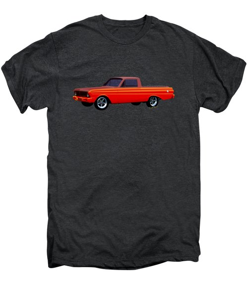 1965 Ford Falcon Ranchero Day At The Beach Men's Premium T-Shirt by Chas Sinklier