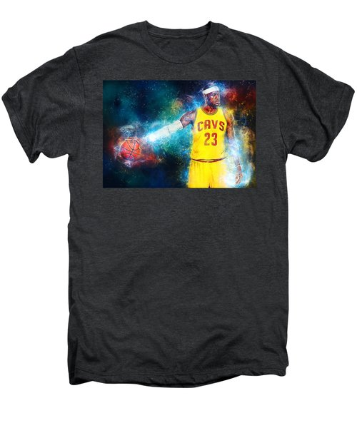 Lebron James Men's Premium T-Shirt by Taylan Soyturk