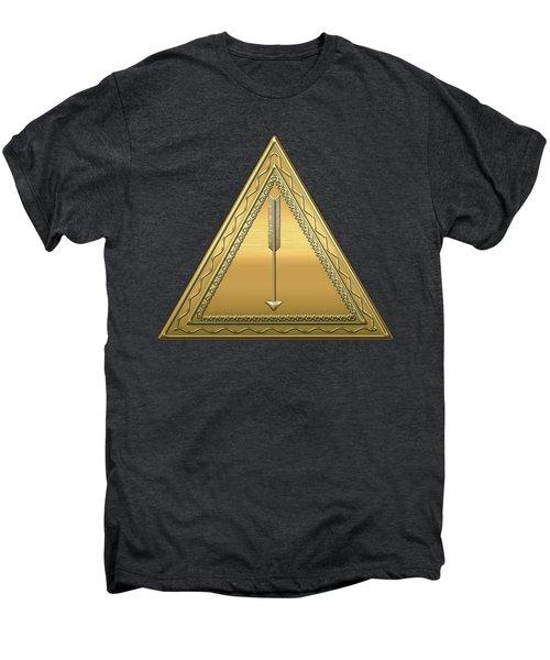 21st Degree Mason - Noachite Or Prussian Knight Masonic  Men's Premium T-Shirt by Serge Averbukh