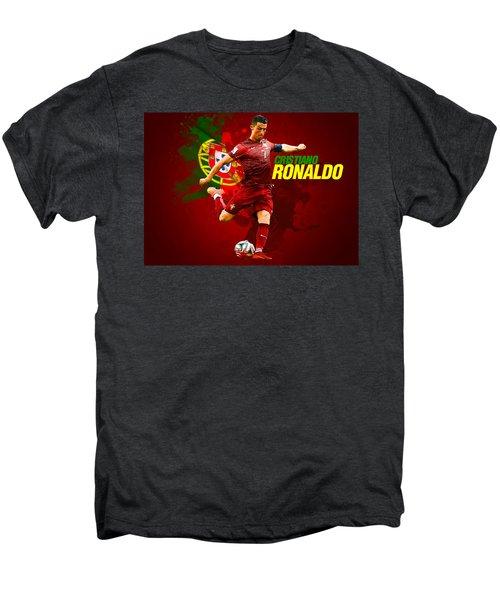 Cristiano Ronaldo Men's Premium T-Shirt by Semih Yurdabak