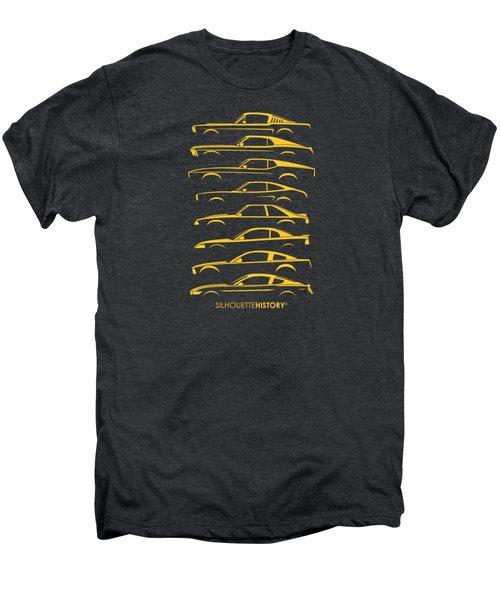 Ford Mustang Silhouettehistory Men's Premium T-Shirt by Gabor Vida