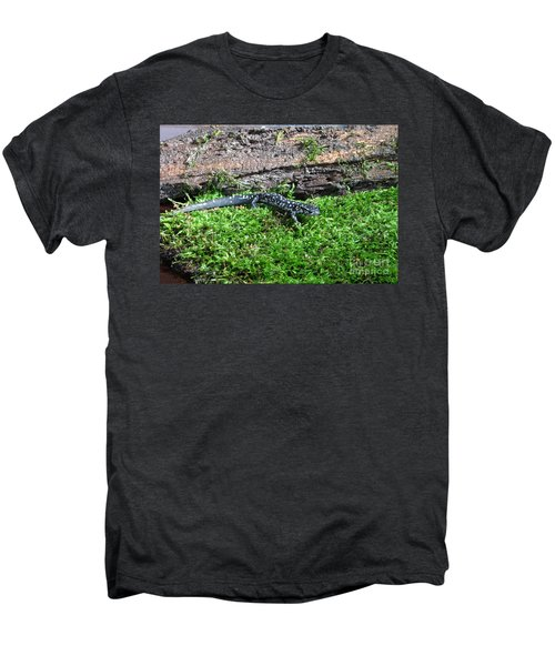 Slimy Salamander Men's Premium T-Shirt by Ted Kinsman