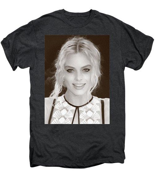 Actress Margot Robbie Men's Premium T-Shirt by Best Actors