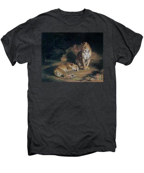 A Pair Of Leopards Men's Premium T-Shirt by William Huggins