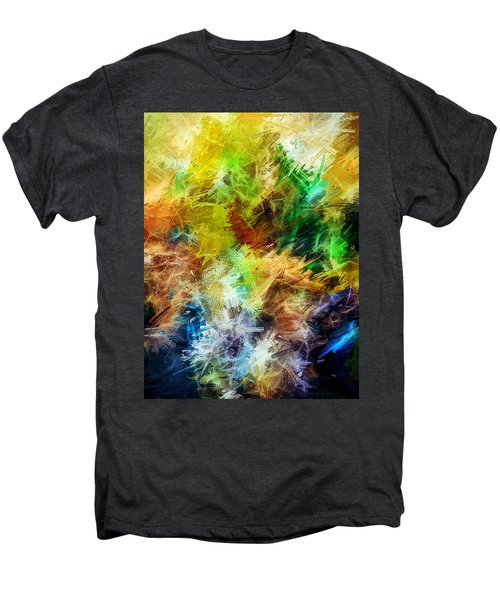 Abstract, Yellow  Men's Premium T-Shirt by Sandy Taylor