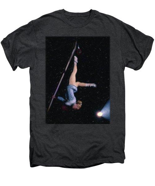 Aerial Acrobat Men's Premium T-Shirt by Jon Delorme