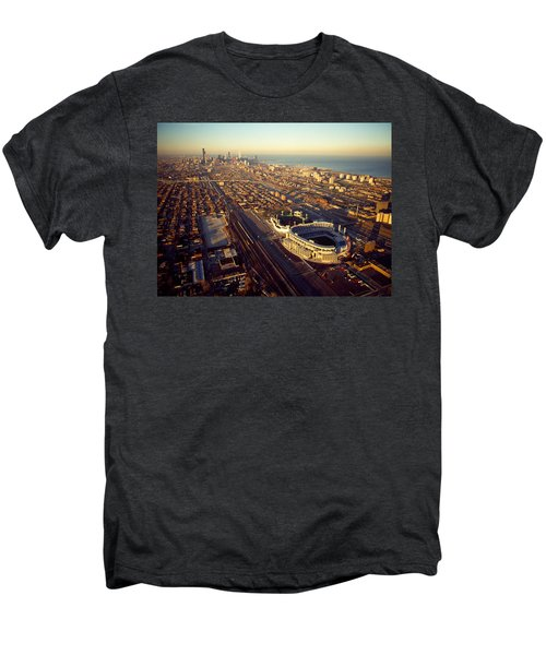 Aerial View Of A City, Old Comiskey Men's Premium T-Shirt by Panoramic Images
