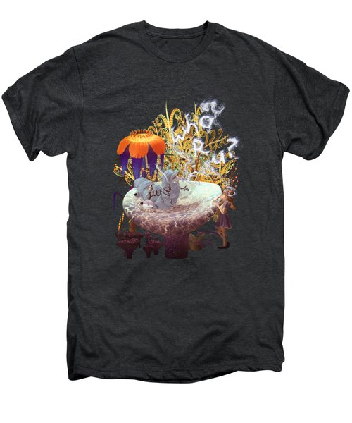 Alice N The Hookah Caterpillar Men's Premium T-Shirt by Methune Hively