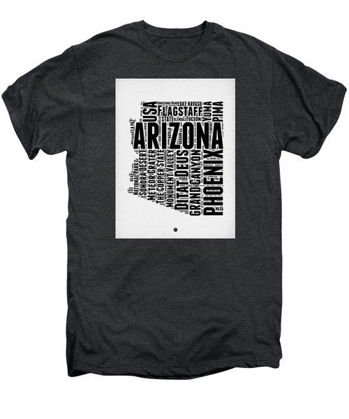 Arizona Word Cloud Map 2 Men's Premium T-Shirt by Naxart Studio