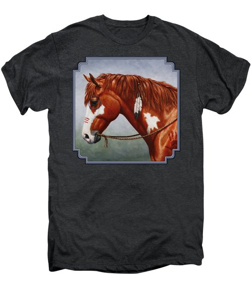 Native American War Horse Men's Premium T-Shirt by Crista Forest