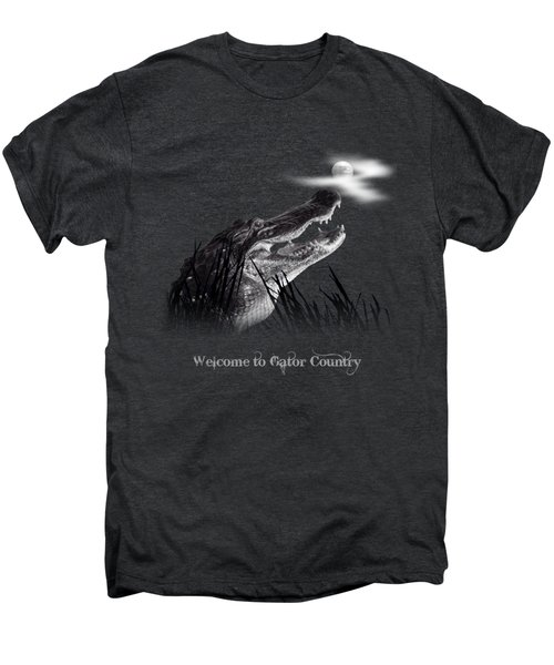Gator Growl Men's Premium T-Shirt by Mark Andrew Thomas