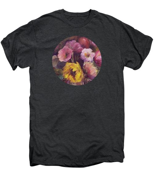 Abundance- Floral Painting Men's Premium T-Shirt by Mary Wolf