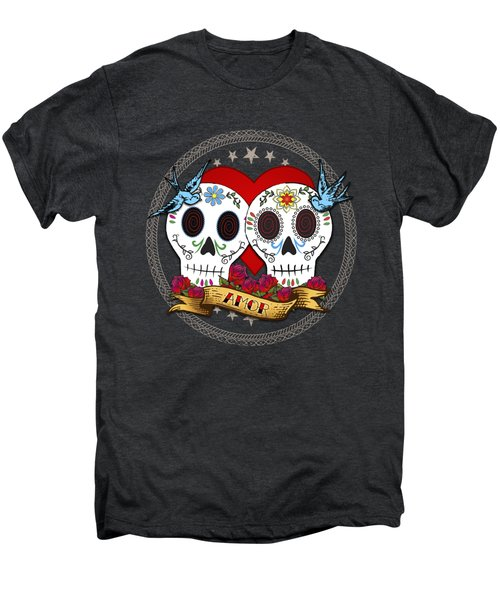 Love Skulls II Men's Premium T-Shirt by Tammy Wetzel