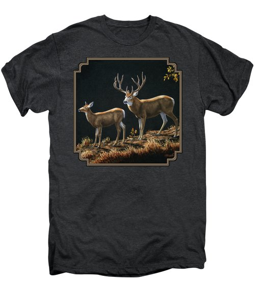 Mule Deer Ridge Men's Premium T-Shirt by Crista Forest