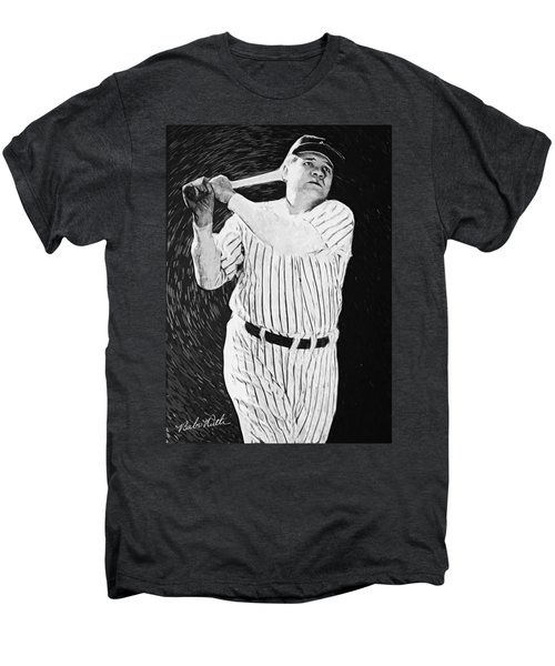 Babe Ruth Men's Premium T-Shirt by Taylan Soyturk
