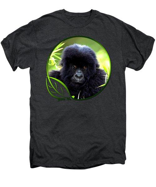 Baby Gorilla Men's Premium T-Shirt by Dan Pagisun