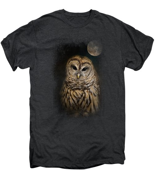 Barred Owl And The Moon Men's Premium T-Shirt by Jai Johnson