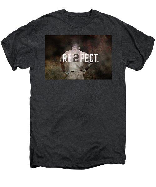 Baseball - Derek Jeter Men's Premium T-Shirt by Joann Vitali