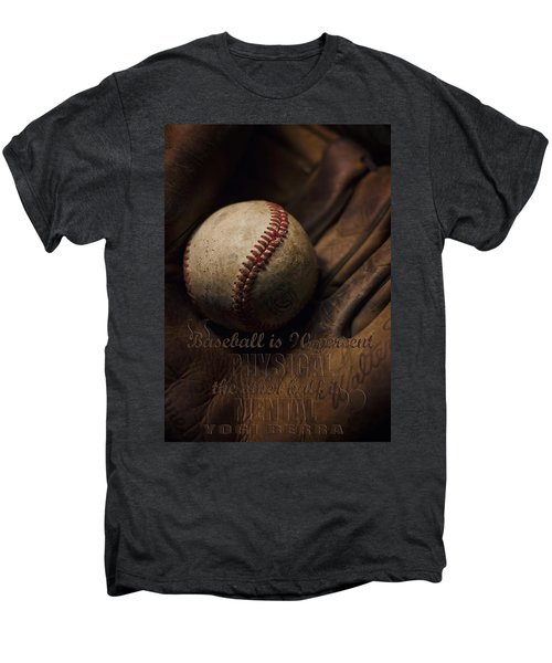 Baseball Yogi Berra Quote Men's Premium T-Shirt by Heather Applegate